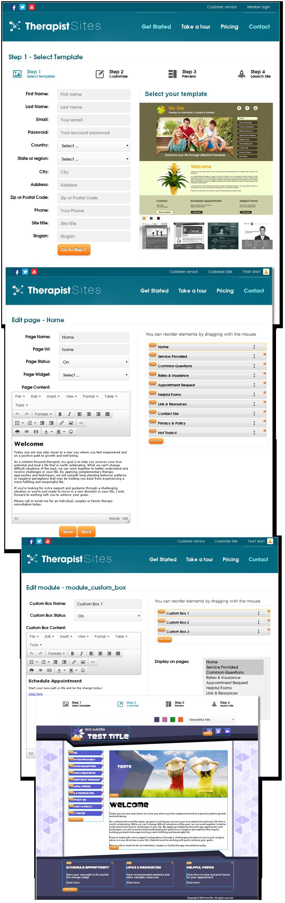 Therapist Sites