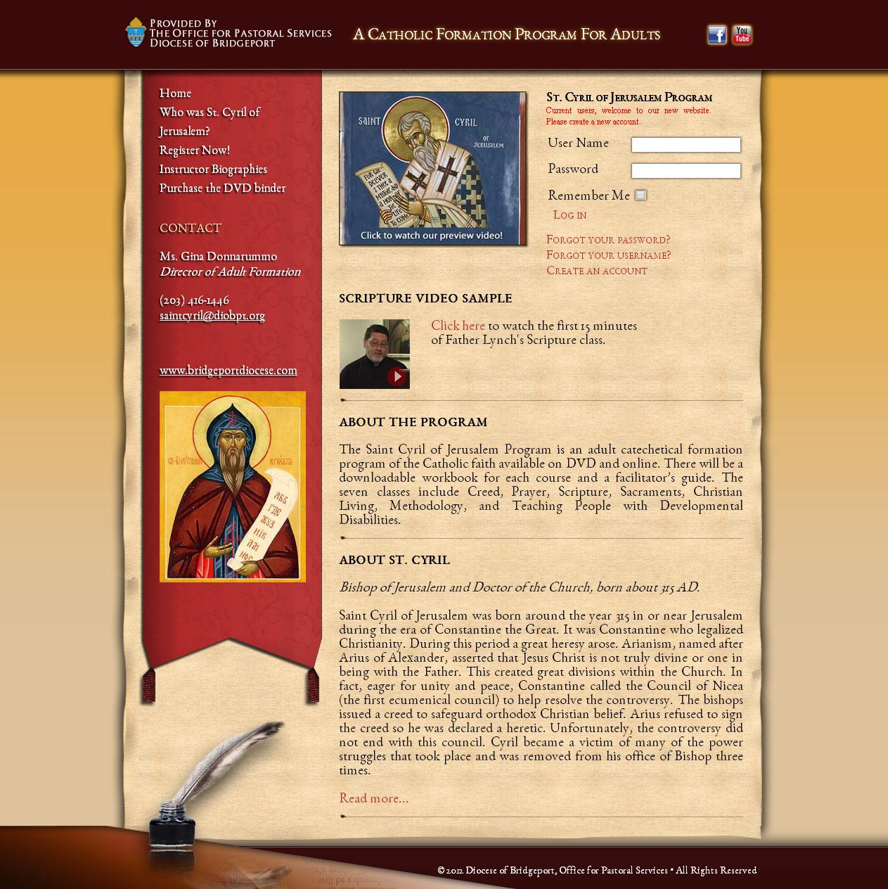 Saint Cyril of Jerusalem Program